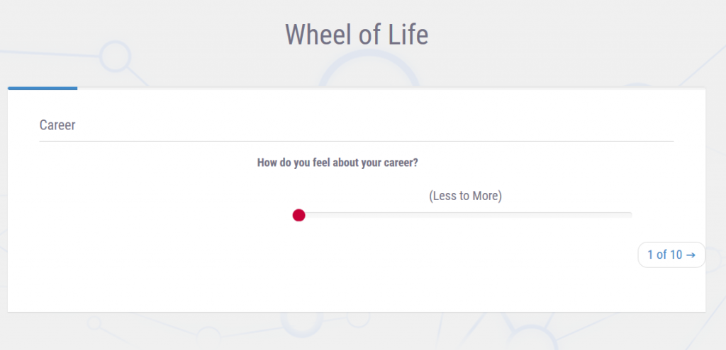 wheel of life - interactive content